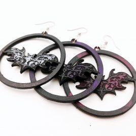 Ohrringe Fledermaus Fledermaus-Creole Ornament 3 Farben Circle