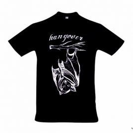 Herrenshirt schwarz Hangover Siebdruck