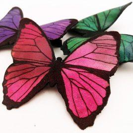 Haarspange Haarclip farbenfroher Schmetterling