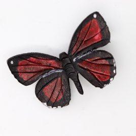Haarspange Haarclip roter Schmetterling Callicore peristera