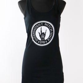 Damentop Longshirt Kleid schwarz Girlie Independent Witch