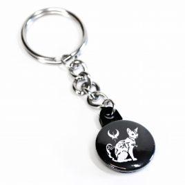 Schlüsselanhänger Button Abra Cat Abra Katze