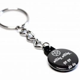 Schlüsselanhänger Button Witchy Witchy