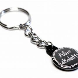 Schlüsselanhänger Button Alles skeletti