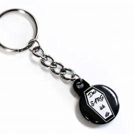 Schlüsselanhänger Button Das Sarg ich dir