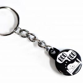 Schlüsselanhänger Button Boo Boo Gespenst