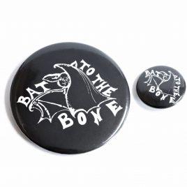 Fledermaus Button Pin Bat to the bone 25mm oder 59mm