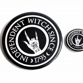 Hexen Button Pin Independent Witch 25mm oder 59mm