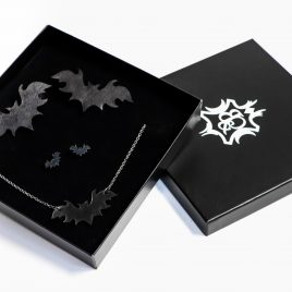 Schmuck Geschenkset schwarze Fledermaus