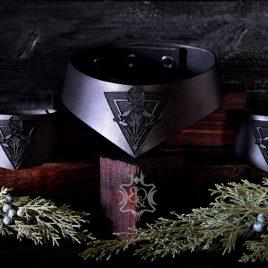 gothic Leder Halsband Höllenmond